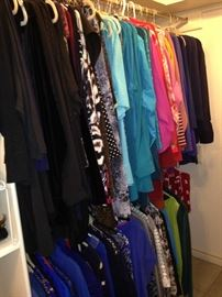 An array of jackets and blouses