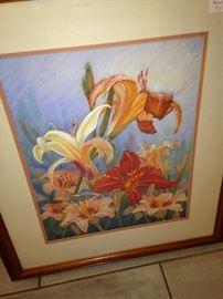 Framed lillies