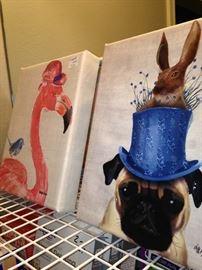 Whimsical animal art