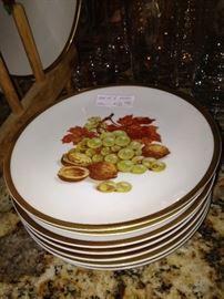 Bavarian salad/dessert plates