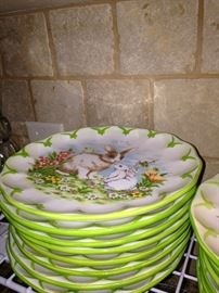 Precious bunny salad/dessert plates