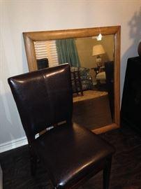 Parson chair; large mirror