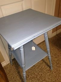 Pale blue painted antique table