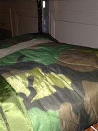 Camo sleeping bag