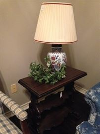 Another side table and lamp