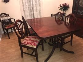 Sunday price - $197.50 - has 6 chairs an extra leaf and pads