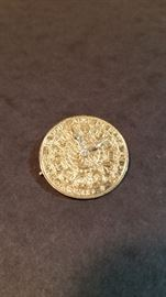14k gold pin