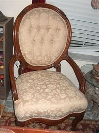 "Victorian antique  ""her"" chair"