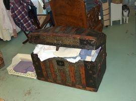 barrel top antique chest