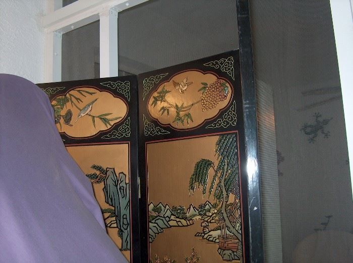 other  side of top area of 3 panel screen