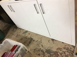 White Laquer Storage Cabinet