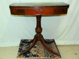 Duncan Phyfe style Mahogany Game Table