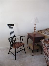 Chair, end table & foot stool