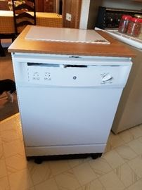 GE portable dishwasher, less than one year old