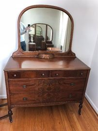 Antique Chataqua dresser with mirror