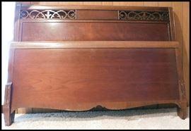 Mahogany full size bed frame.