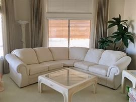 White 2-piece Sectional
