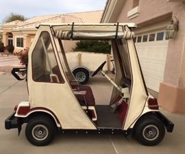 1987 GAS Golf Cart w/ Weather Curtains