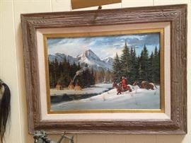 Robert Becente Original Oil