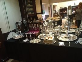 """Weidlich """"Ancestry"""" Sterling flatware. Service for 12~ 7 piece place settings and servers."""