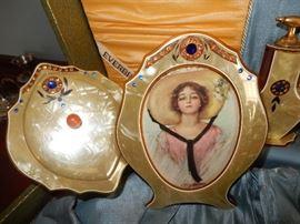 Everbrite Antique/Vintage Ladies Vanity Set in Original Box.