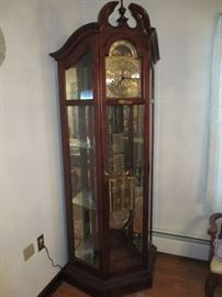 Howard Miller Curio Conner Floor Clock (#610-841 Hayward) in great condition.