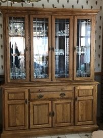 Lighted China cabinet in great condition