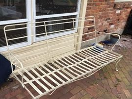 Wrought iron patio sofa