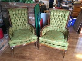 Nice pair of tufted chairs