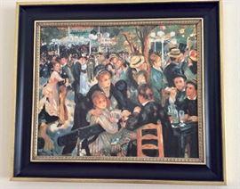 Brushstrokes artist enhanced Le Moulin De La Galette painting 81/4500 by Pierre-Auguste Renoir.  Complete with certificate of authenticity.