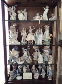 Beautiful Lladro Collection.  Many Retired.