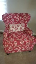 $250   Arhaus red chair