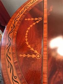 Mahogany inlay Dropleaf table by Baker Furniture       ==>ONLY $800