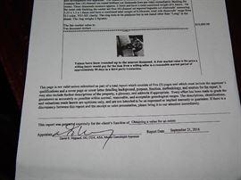over 2 ct Diamond & Platinum ladies ring with $10K  dollar appraisal