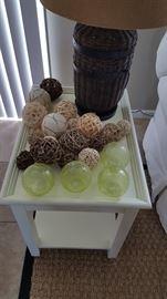 Assorted decorative balls