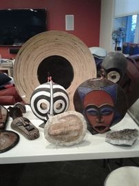 Mix of tribal art and geodes