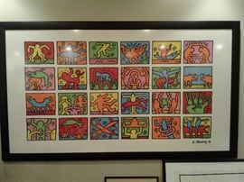 Keith Haring poster 80 inches wide
