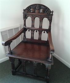 19th century carved chair