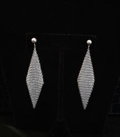 Elsa Peretti for Tiffany Sterling mesh earrings. Also in 18k gold.