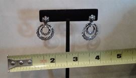 18k and diamond earrings.
