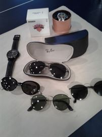 Selection of eyeware including Kate Spade, Maui Jim, Ray Ban and more.             Hugo Boss watch for men