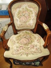 Early needlepoint chair