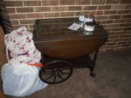 tea Cart with serving tray