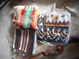 Beaver State Pendleton  Wool blanket, upper left