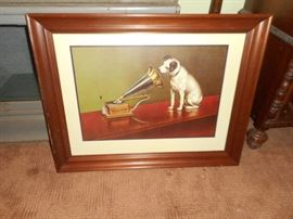 His Masters Voice, lithograph/framed