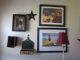 More framed décor, and other