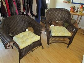Two new wicker chairs and pads