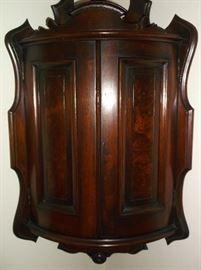Hanging Victorian corner wall cabinet