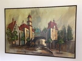Large mid century painting