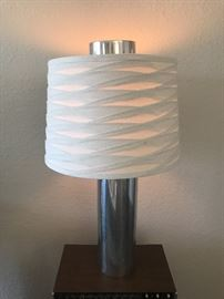 Mid century chrome touch lamp